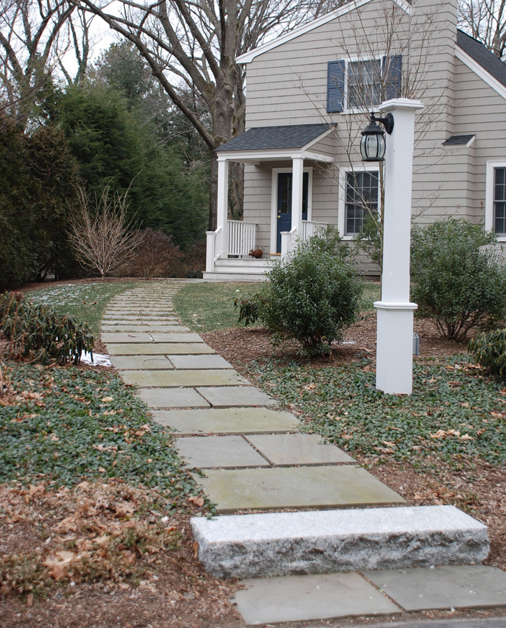 Slate Pathway and Stone Step