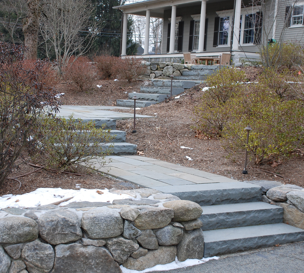 Stone Steps and Stone Retaining Wall
