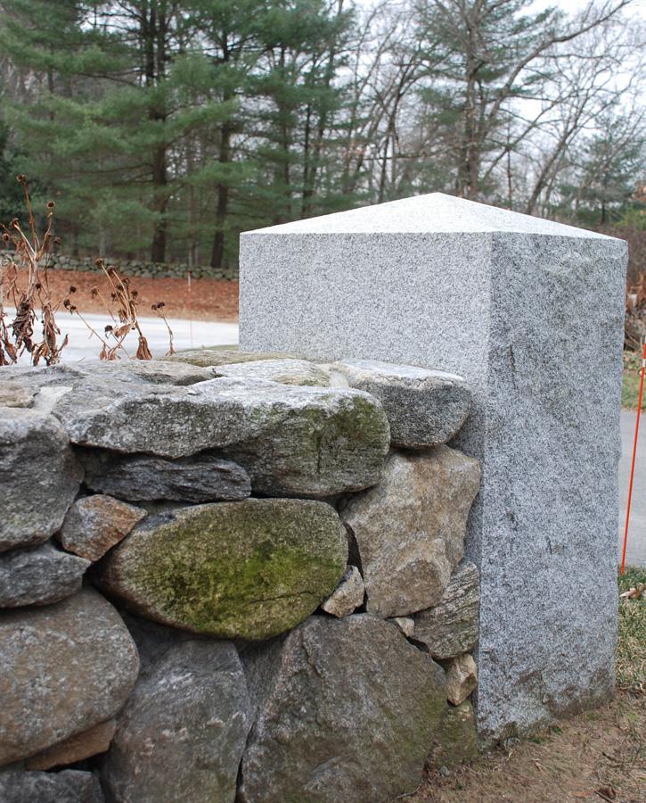 Stone Wall with Corner Pillar