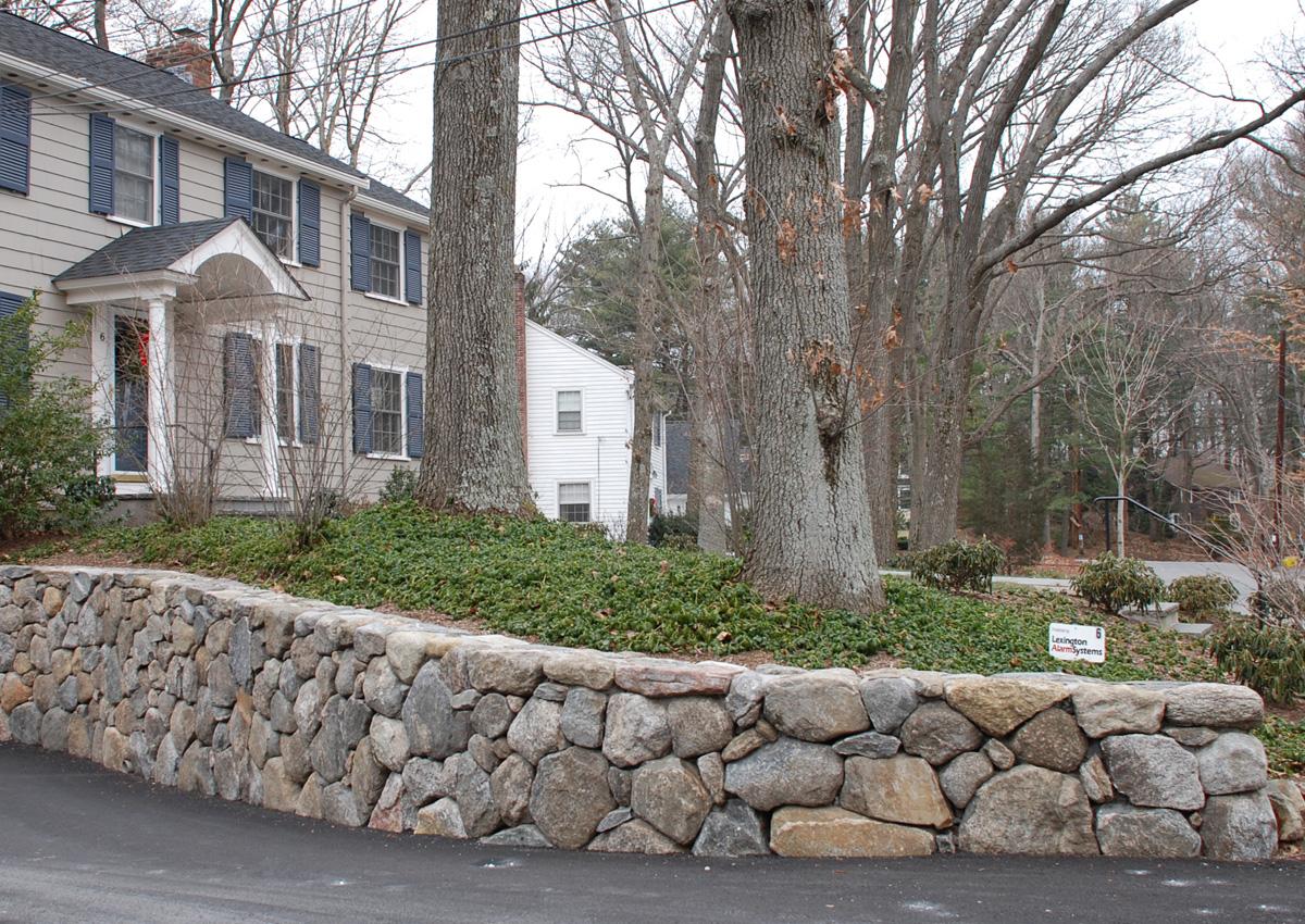 Stone Driveway Retaining Wall