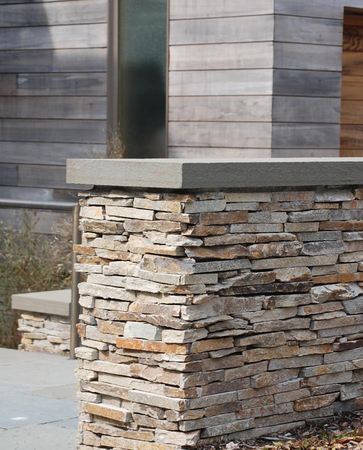 Modern Stone Wall