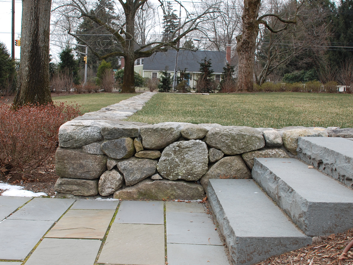 Stone Retaining Wall and Steps