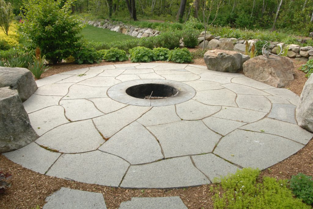Fire Pit and Stone Patio