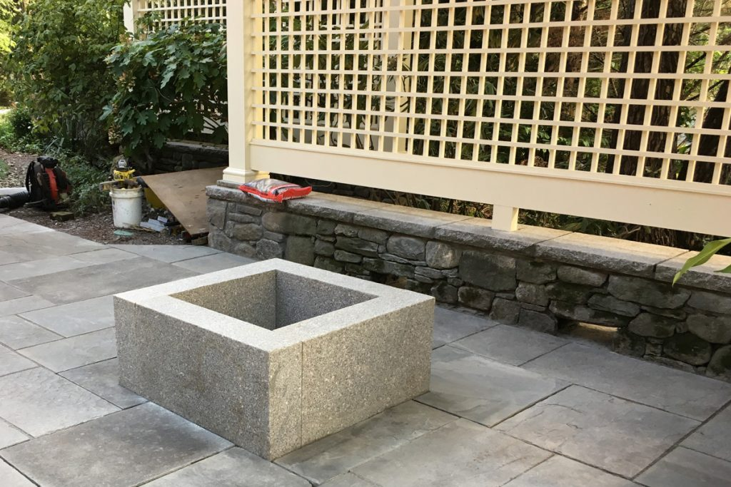 Fire Pit with Privacy Screening