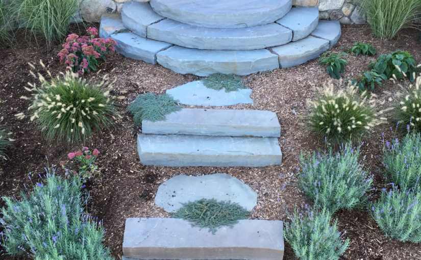 Natural Stone Steps and Planting