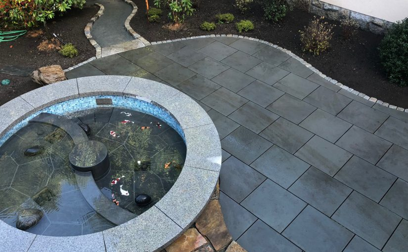 Koi Pond, Patio and Edging