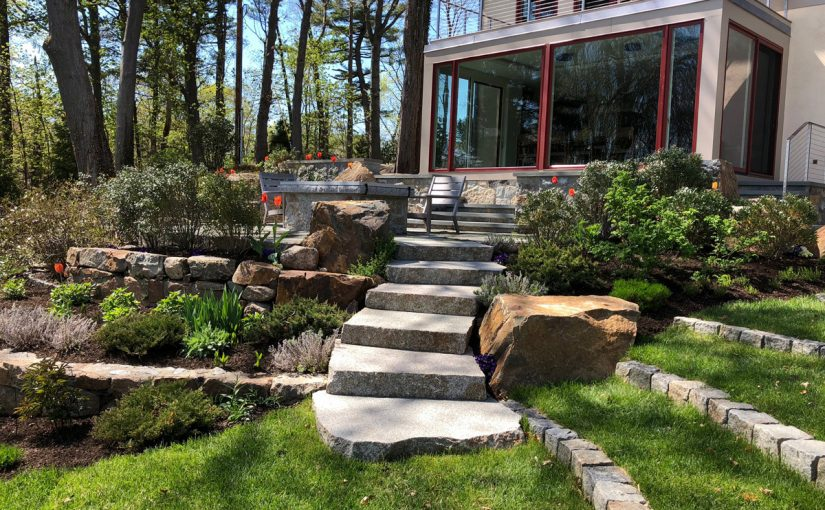 Stone Steps, Patio and Terraces
