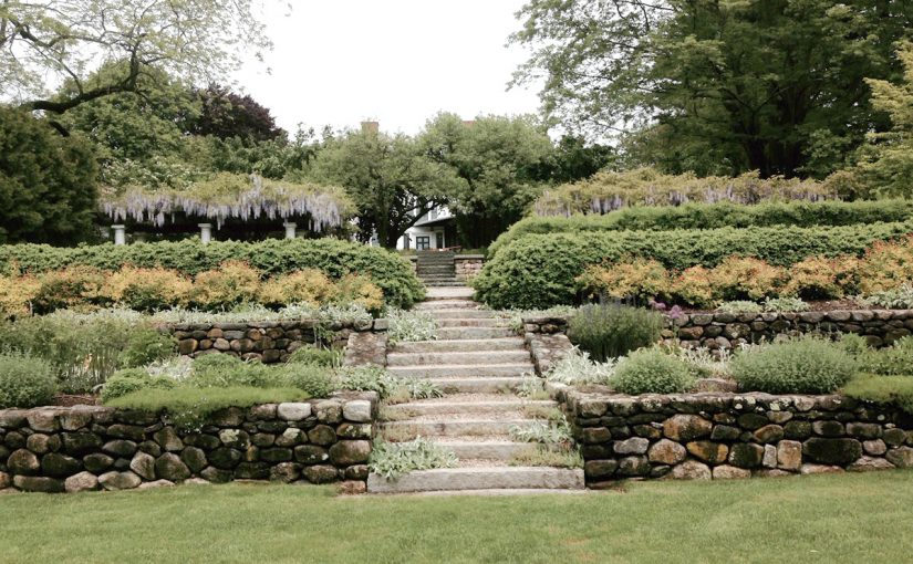 Garden Terraces with Stone Steps