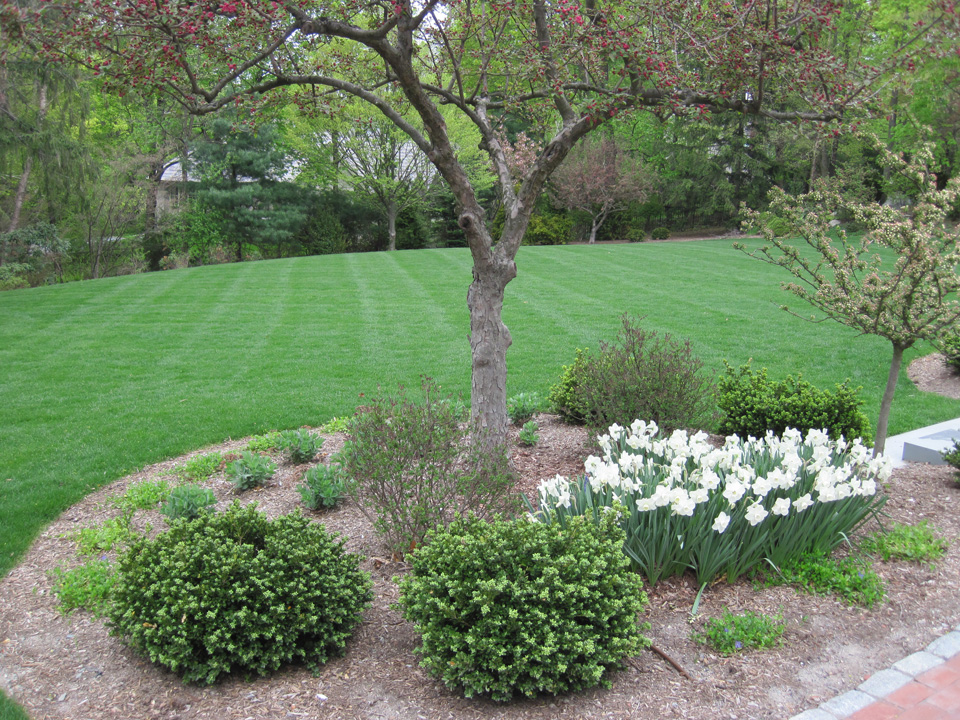Flowers, shrubs, mulching and lawncare