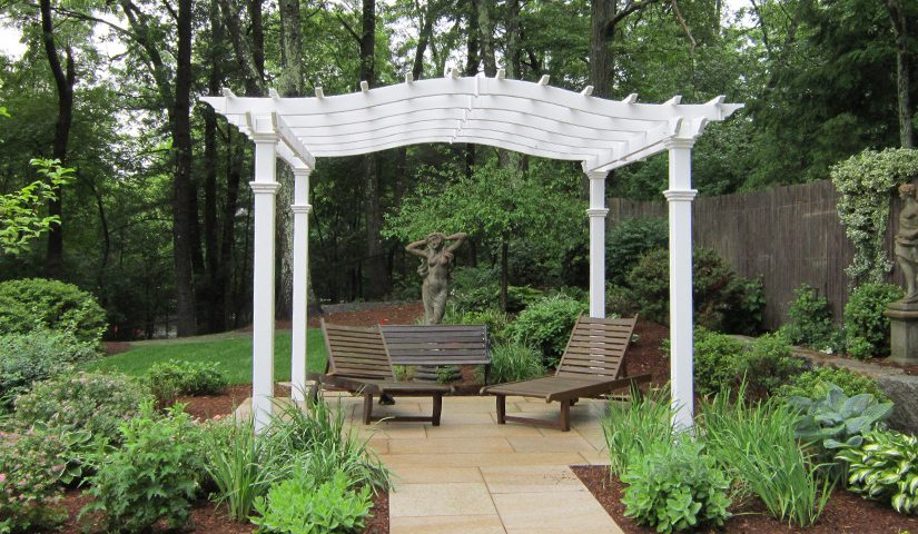 Pergola, Patio and Plantings